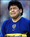 Maradona tears